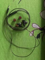 Headset/Fone de Ouvido TopK Intra-Auricular Estéreo Hi-Fi Driver Duplo 3 5mm