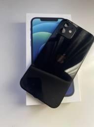 Iphone 12 preto 128 gb com 3 Cases