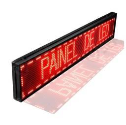 Letreiro Digital Luminoso Led Vermelho Painel 1,00x0,20m Usb