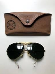 Óculos Ray Ban Caçador - Hastes Flexiveis - Lente Cinza