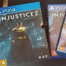 Injustice 2 + Filme Liga da Justiça Sombria pra PS4