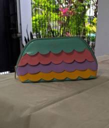 Bolsa O Boticário Cuide-se Bem Tons Pastéis Verde Rosa Roxo Amarelo Lilás e Bolsa Azul