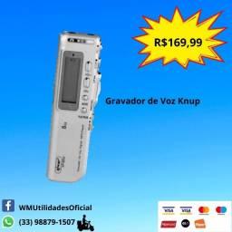 Gravador De Voz Digital Knup Kp-8004 Até 140hs 8g Memória