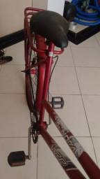 Bicicleta vermelha aro 26 completa