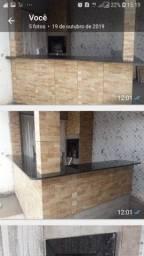 Cozinha, banheiros e degraus