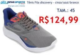 Tênis Fila discovery - cinza/azul/branco / 45