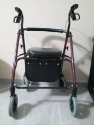 Andador para Idoso Flex Mobil Saúde c/ 4 Rodas