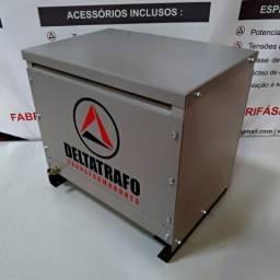 Autotransformador trifásico a seco 10kVA - 220v p/ 380v + N - Garantia 24 meses