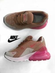 Tênis Nike Air Max 270 Infantil Rosa Bege Importado Novo b2d9d4b7047