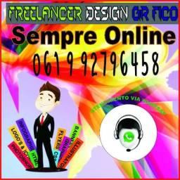 Freelancer design gráfico Sempre Online 061 9 92796458
