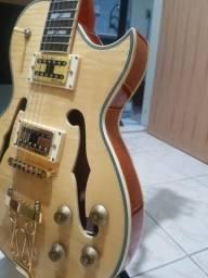 Vendo guitarra golden semi acústica les paul estado de zero