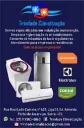 Ar condicionado , ( geladeira) ,conserto e instalção