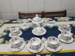 Jogo de porcelana chá