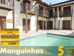 Casa em Manguinhos com 5 quartos suítes