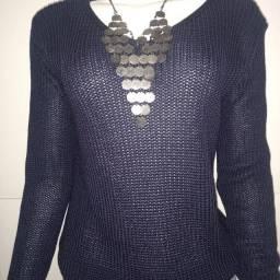 Blusa feminina de tricô