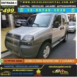 Doblo 2004 Parcelas de 499 reais ao mês - Adventure 1.8 GNV 7 Lugares