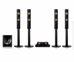 Home Theater LG Blue Ray 3D 1200W Wireless - 4 torres - Caixa Central - Subwoofer