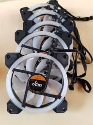 Cooler fan RGB + controladora + controle