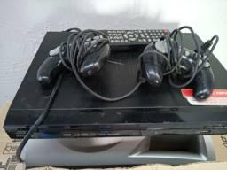 Dvd,karaoke,vídeo,game com 2 controles