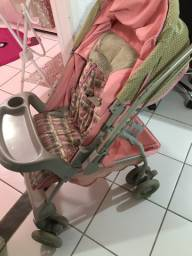 Carrinho de bebê rosa Galzerano