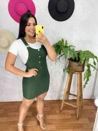 Jardineira Saia Bengaline
