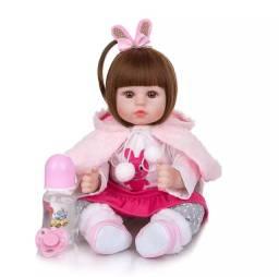 Boneca reborn, bebê realista 100%silicone