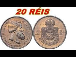 Moeda Reliquia D Pedro II - 20 Reis de 1869