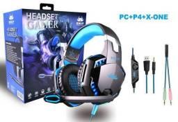 Fone Headset gamer KP-455A