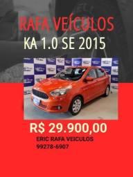SABADOU !!!! FORD KA 1.0 SE 2015 R$ 29.900,00 - ERIC RAFA VEICULOS