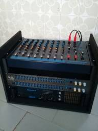 Caixas de som,mesa e amplificador c2