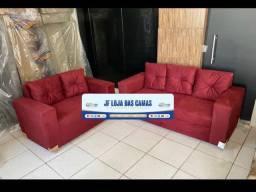 Conjuntos de sofás de várias cores