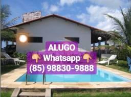 Alugo Casa Taíba/CE (Piscina, Deck, Churrasqueira, Varandão)