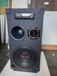 Caixa  de som com bluetooth amplificada