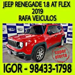 JEEP RENEGADE 1.8 AT FLEX 2019 NA RAFA VEICULOS hhw