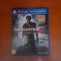 Vende-se jogo uncharted 4 a thief's end para playstation 4
