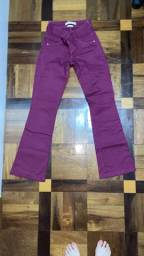 Calça jeans roxa