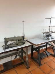 Máquinas de costura reta e interloque