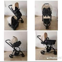 Vendo Carrinho + bebê conforto Safety 1st usados