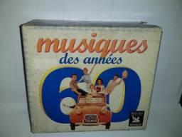 Musiques Des Années 60,Caixa Box Com 5 Cd´s,Em Muito Bom Estado,Importado,Feança