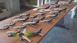 Maquetes de aviões comerciais
