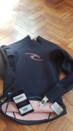 Camisa Jaqueta Surf Mergulho Neoprene RipCurl Importada Nova 0,5 mm Small Pequeno