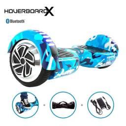 Hoverboard skate elétrico azul Militar