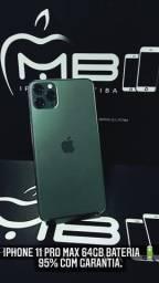 iPhone 11 Pro Max 64GB seminovo com garantia