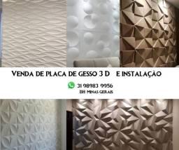 Placa de Gesso 3D (fabricação e aplicação)