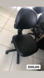 Cadeira preta confortável