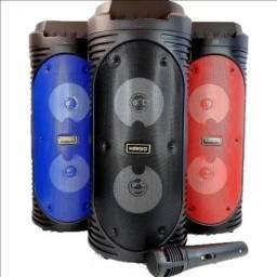 Caixa de Som Kimiso KMS-6681 com Microfone