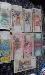 Vendo Notas de Antigos Cruzeiros/Cruzados (Entre 100 a 500 000 mil cruzados/cruzeiros)
