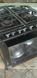 Fogão 4 chamas c forno a gás troco por TV smart