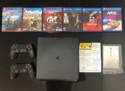 Sony Playstation 4 1tb + 02 Controles + 06 Jogos Na Garantia