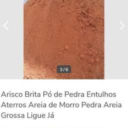 Arisco Brita Areia Grossa Pó de Brita Entulhos Aterros Ligue Já